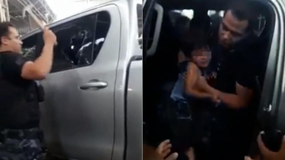 Encerró a su hijo en una camioneta y lo detuvieron